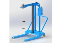 HXTBC3 Multi-purpose Double-guide Lifting Pneumatic Mixer