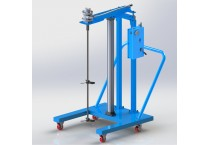 HXTUSD Double - guide lifting and moving pneumatic mixer