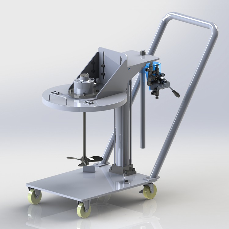HXTBCM Pneumatic Mixer with Movable Bucket Lid Type