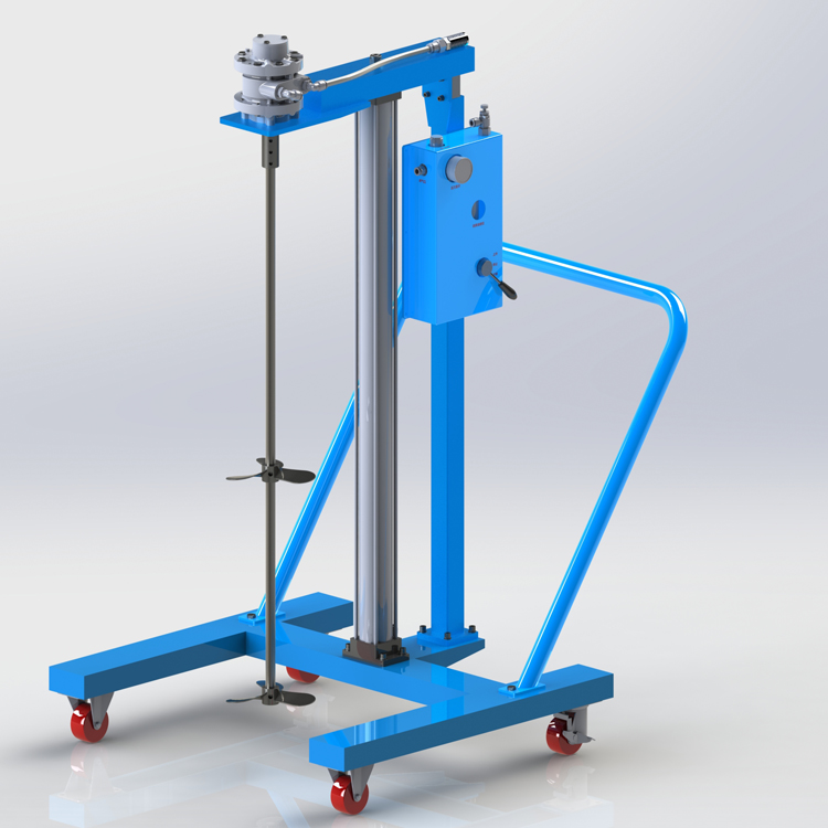 HTTPS://hongxinairmotor.com/img/large-capacity-frame-moving-type-pneumatic-lift-mixer.jpg
